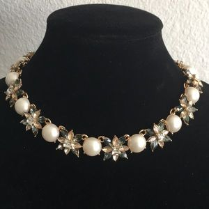 Charter Club Crystal/Faux Pearl Necklace New V117